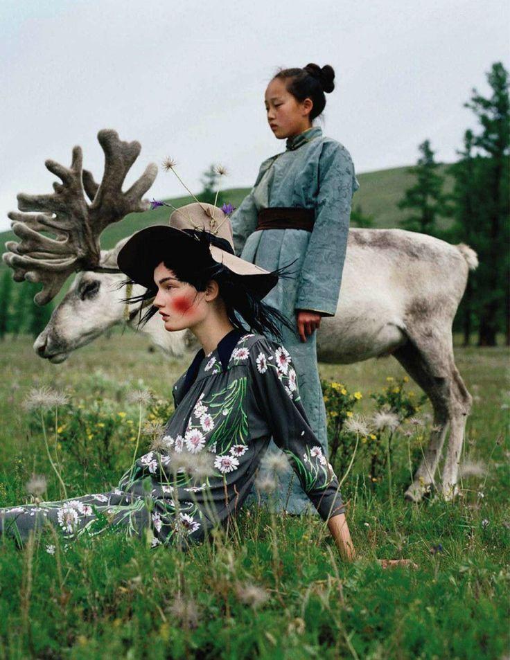 NOIR FAÇADE - The place for fashion editorials. - An Awfully Big Adventure | Kirsi Pyrhönen by Tim Walker for Vogue UK December 2011