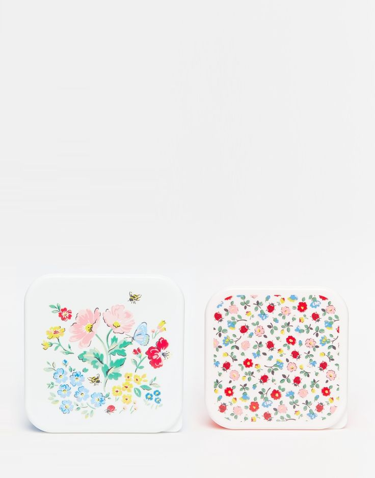 Image 1 of Cath Kidston Set of 2 Meadow Print Lunch Boxes