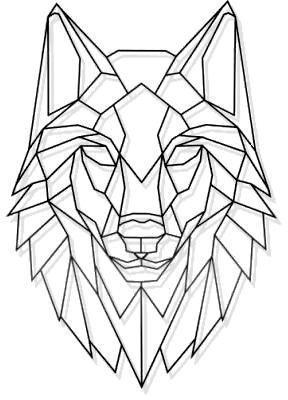 Laser Cut Metall geometrische Wolf Stare Wand Kunst Blac … – #Art #Blac #Cut #geometr …