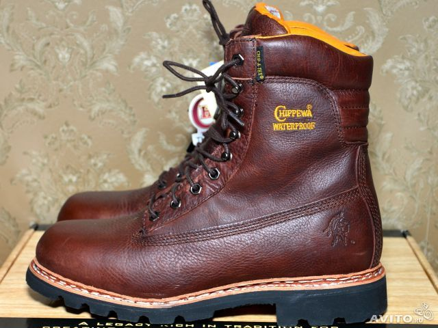 Утеплённые походные ботинки CHIPPEWA оригинал, модель Insulated Norwegian Collection Hiking Boots, арт.:25950. Цвет:шиповник (Briar). Производство Китай. Куплены в США за 220 долларов + пересылка. Новая обувь в коробке.