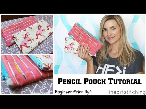 Easy Zippered Box Pouch Tutorial - YouTube