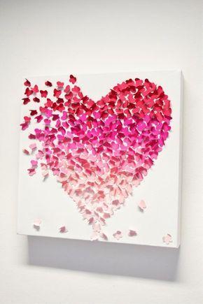 Easy Butterfly Hearts