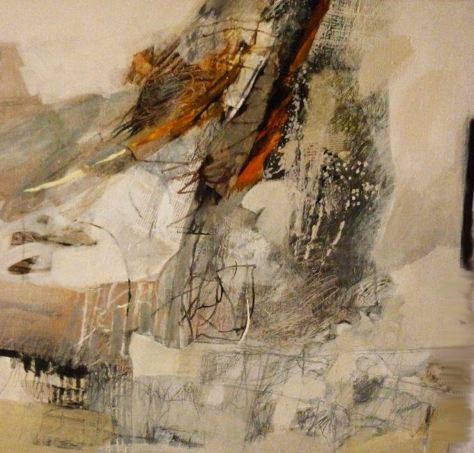 Claire Merigeau - carré de 80 x 80 acrylique sur toile