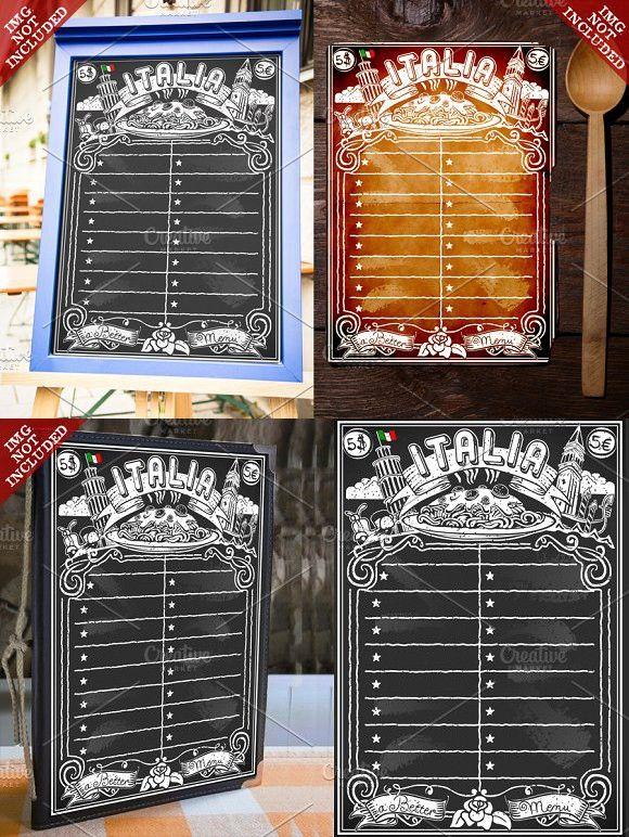 Vintage Blackboard for Italian Menu Restaurant Pinterest - italian menu