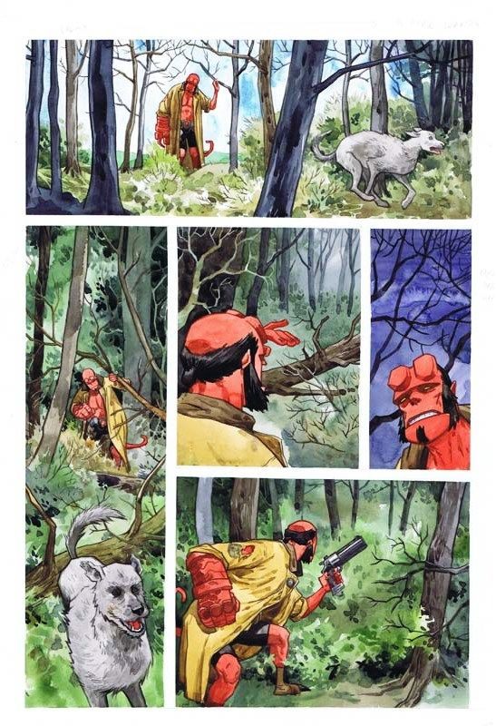 Beasts of Burden/Hellboy One-Shot Page 3 by Jill Thompson
