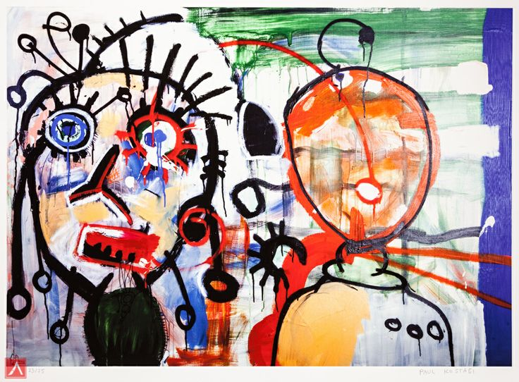 """Paul Kostabi: """"Persimmons"""" (2012) is a handsigned & numbered gliclée."""
