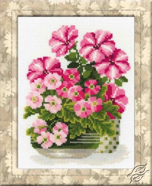 Petunias And Primroses - Cross Stitch Kits by RIOLIS - 1115
