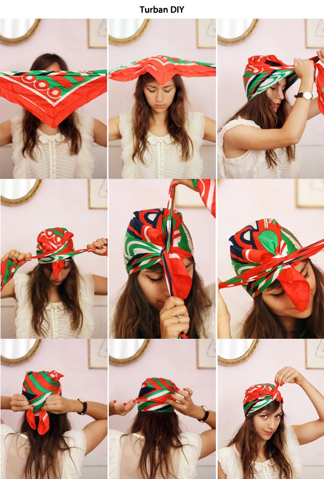 turban DIY: perfect for rainy days!
