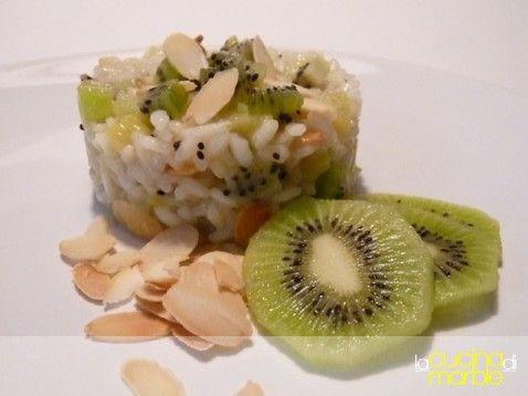 risotto kiwi e mandorle