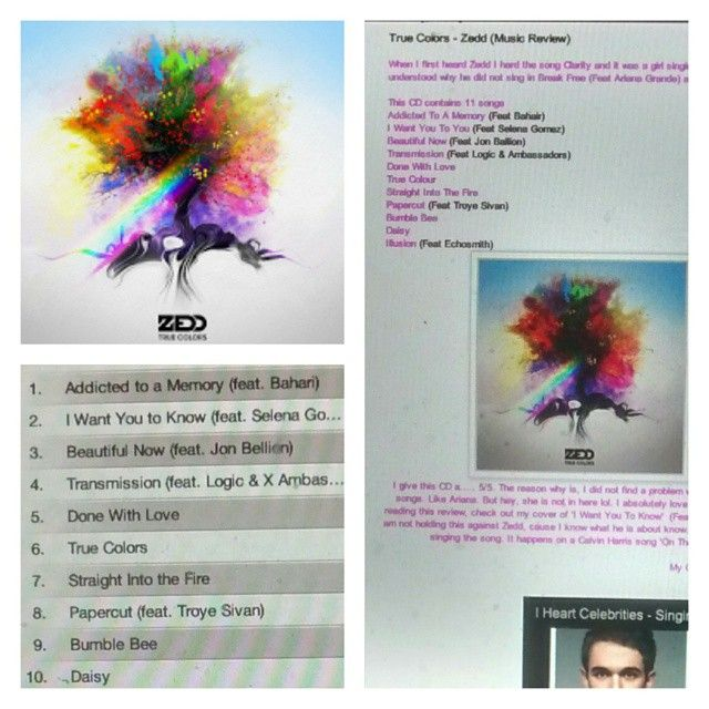 Check out my review on Zedd's CD http://iheartcelebrities519.blogspot.ca/2015/05/true-colors-zedd-music-review.html