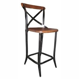 Go Industrial With This Vintage Style Wood And Metal Bar Stool. Use At The  Kitchen Bar Counter Or In A Commercial Space. Great Industrial Style For  Any Bar ...