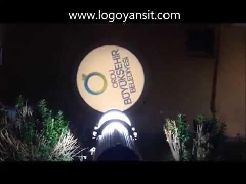 Logo Yansıt Dış Ortam Duvarda Dönen Ordu belediye logosu - YouTube