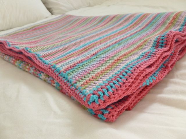 Knit Vertical Stripes Pattern : Best images about crochet afghans throws on pinterest