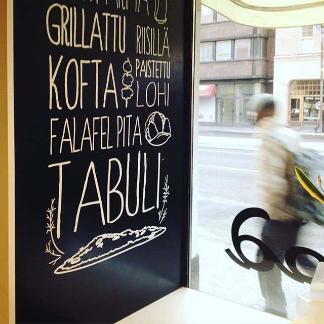 We created this boards as part of our interior design project for Metro Food, a Lebanese restaurant in the district of Kallio, Helsinki. The handmade typography and loose style illustrations are inspired by the freshness and straight forward character of the food served.