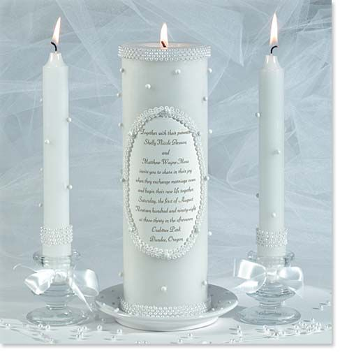 Pearls On Unity Candles Weddings Pinterest