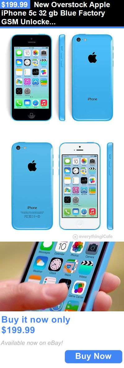 cell phones: New Overstock Apple Iphone 5C 32 Gb Blue Factory Gsm Unlocked For Att T-Mobile BUY IT NOW ONLY: $199.99