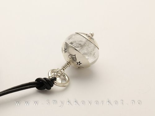 Crystal quartz and sterling silver