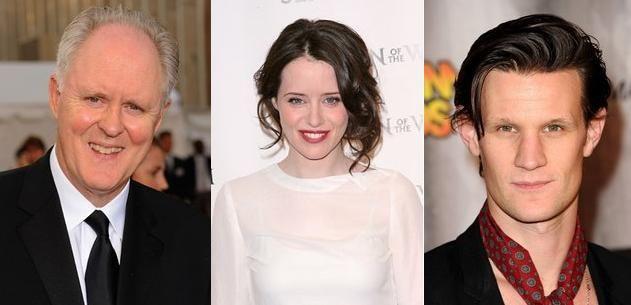 John Lithgow, Claire Foy y Matt Smith fichan por The Crown en Netflix