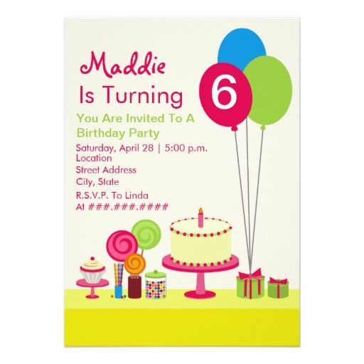 440 best balloon birthday invitations images on pinterest girly birthday party cake balloons candy cupcake card stopboris Gallery