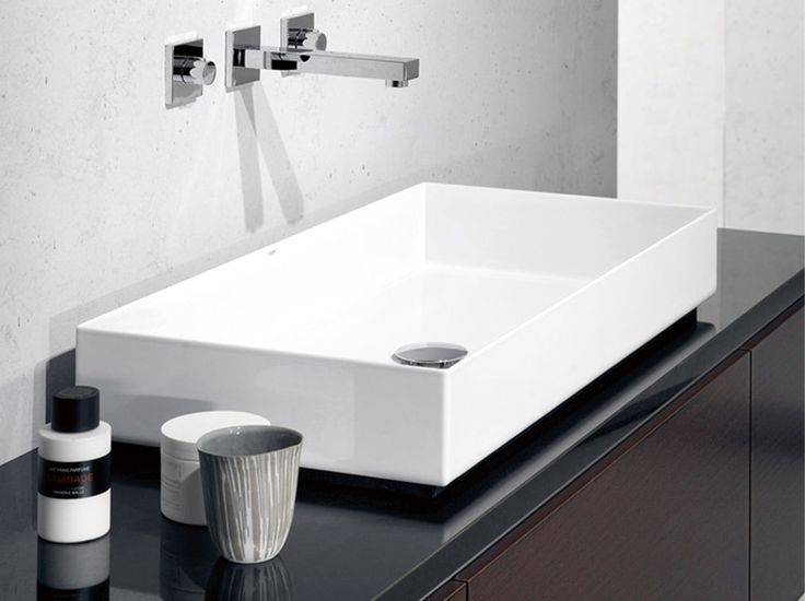 Signified by thin edges and bold corners rarely found in bathroom basins, Alape Metaphor Above Counter Basin will become your bathroom centrepiece.