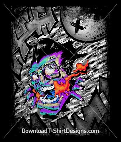 Screaming Graffiti Face Mouth Character. Download this design and print on your T-Shirts or products today at: http://downloadt-shirtdesigns.com/downloadt-shirtdesigns-com-2123106.html