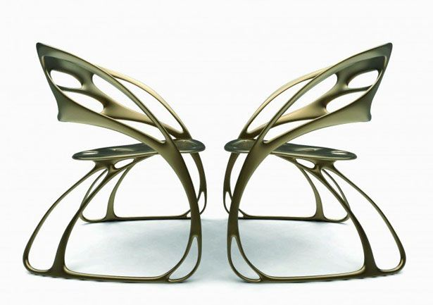 "A' Design Award and Competition - Butterfly Chair by Eduardo García Campos - 1. Butterfly Chair by Eduardo García Campos Inspired by nature, particularly Mexican ""Monarca"" butterfly, a beautiful insect with fragile appearance of its wings yet it is known for its strength. This chair is aesthetically beautiful and highly functional, the wing shape and structure provides comfortable and strong support for the user. Simply place two pieces side by side, together, they create the shape of a…"