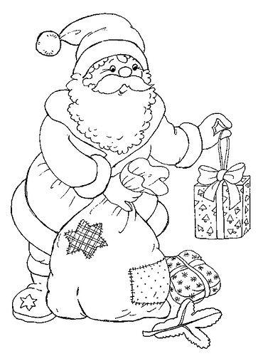 coloriage de #Noel avec le Père Noël
