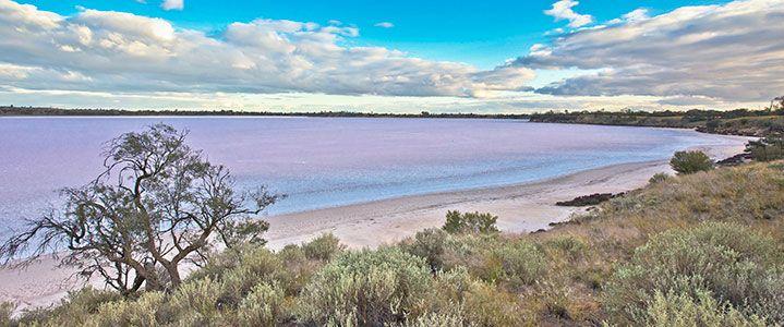 Pink Lakes, between OUYEN and MILDURA