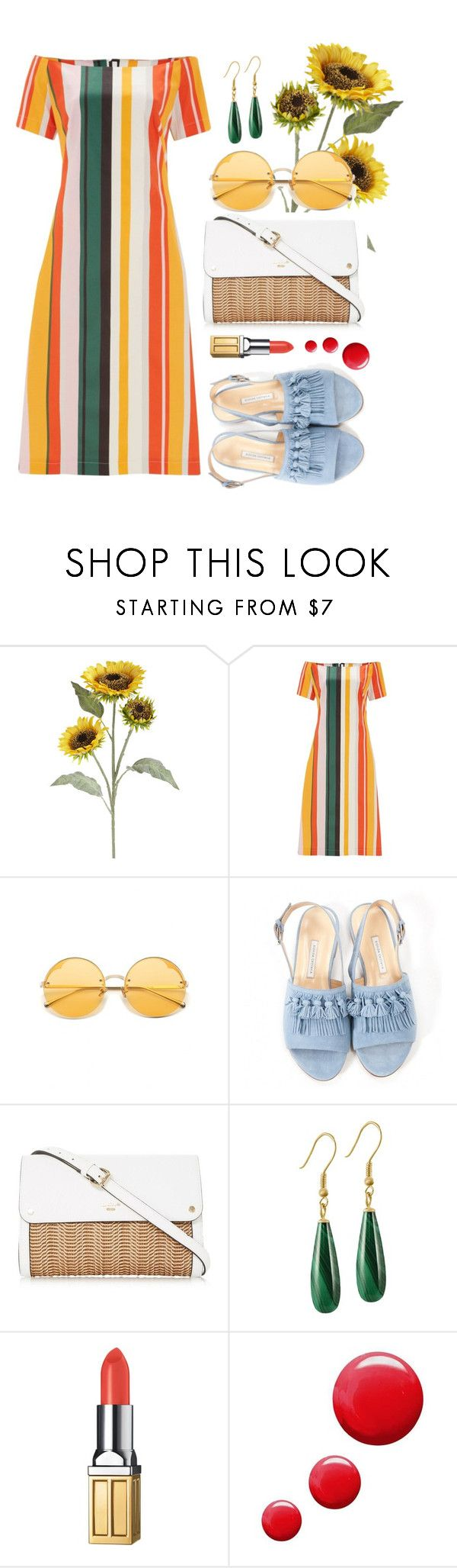 """""""Sunflower"""" by bechs on Polyvore featuring Pier 1 Imports, Finery London, Bionda Castana, Preciosa, Elizabeth Arden and Topshop"""