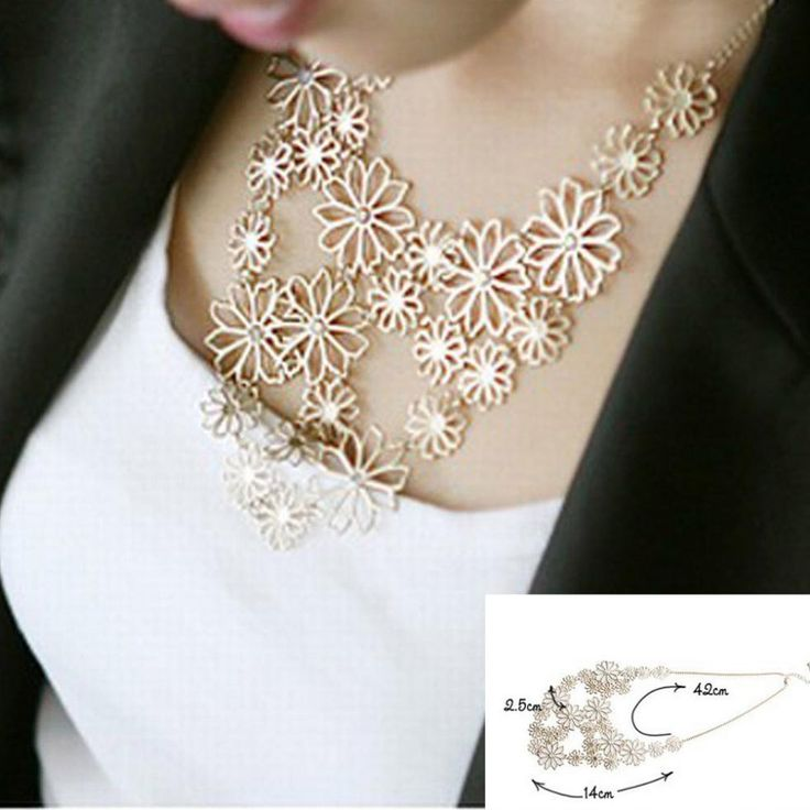 Hot sale Brand Design western style Multilayer Pendants Rhinestone gold color hollow flowers necklace jewelry statement -  http://mixre.com/hot-sale-brand-design-western-style-multilayer-pendants-rhinestone-gold-color-hollow-flowers-necklace-jewelry-statement/  #Necklace
