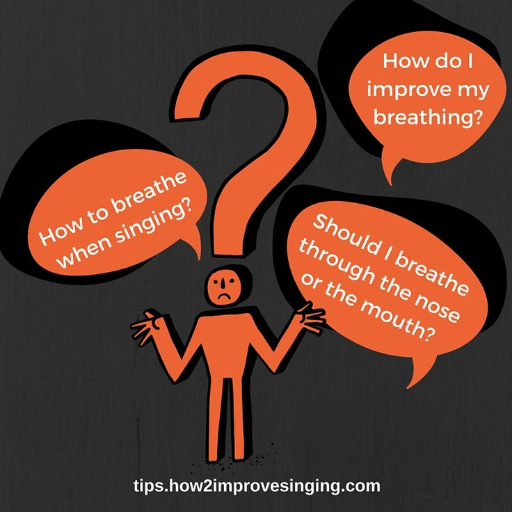 Click here to read answers to common questions about breathing and singing: http://tips.how2improvesinging.com/how-to-breathe-when-singing/