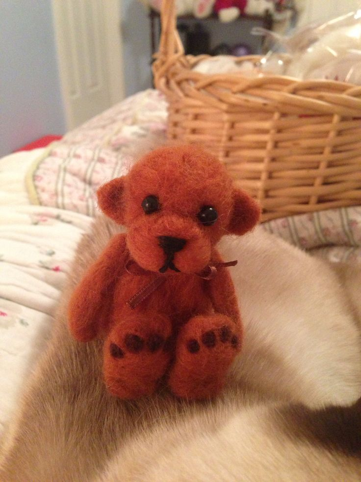 Needle Felted Teddy Bear - Jen Hoddinott