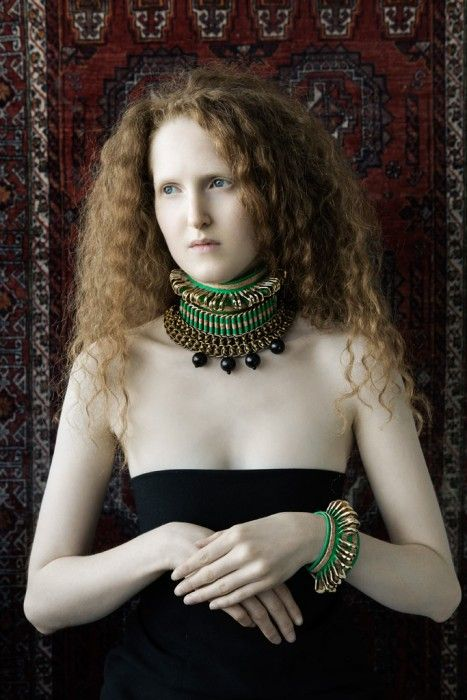 Michelle Lowe-Holder   Cork, ribbon and brass choker Cork and brass cuff  Textile - Art jewelry Handcrafted