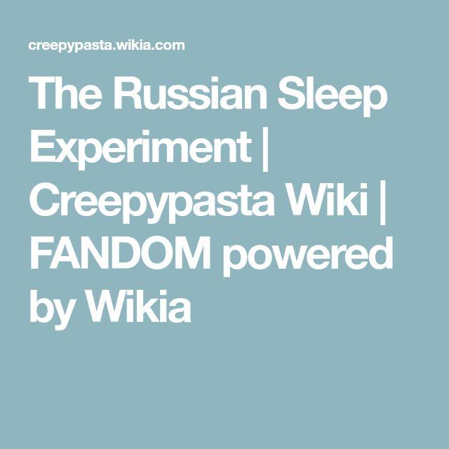 The Russian Sleep Experiment | Creepypasta Wiki | FANDOM powered by Wikia
