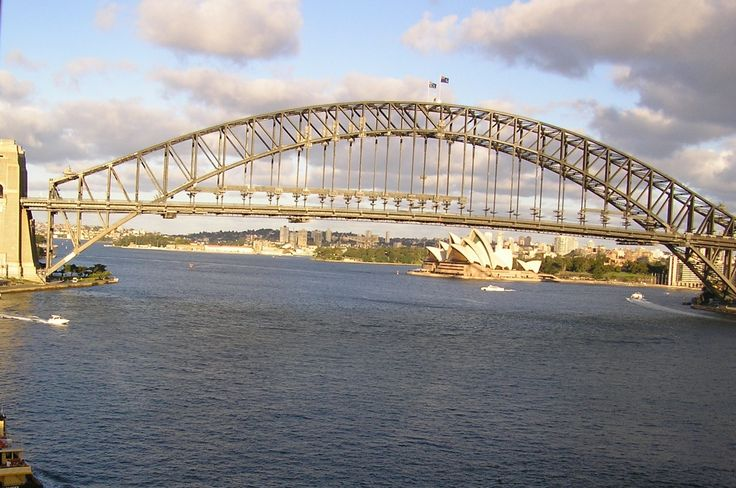 The Sydney Harbour Bridge from our room at Harbourside Apartments, McMahons Point.