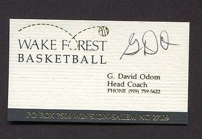 HAND SIGNED BUSINESS CARD DAVE ODOM WAKE FOREST BASKETBALL COACH NCAA for USD34.99 #Collectibles #Autographs #Sports #BASKETBALL  Like the HAND SIGNED BUSINESS CARD DAVE ODOM WAKE FOREST BASKETBALL COACH NCAA? Get it at USD34.99!