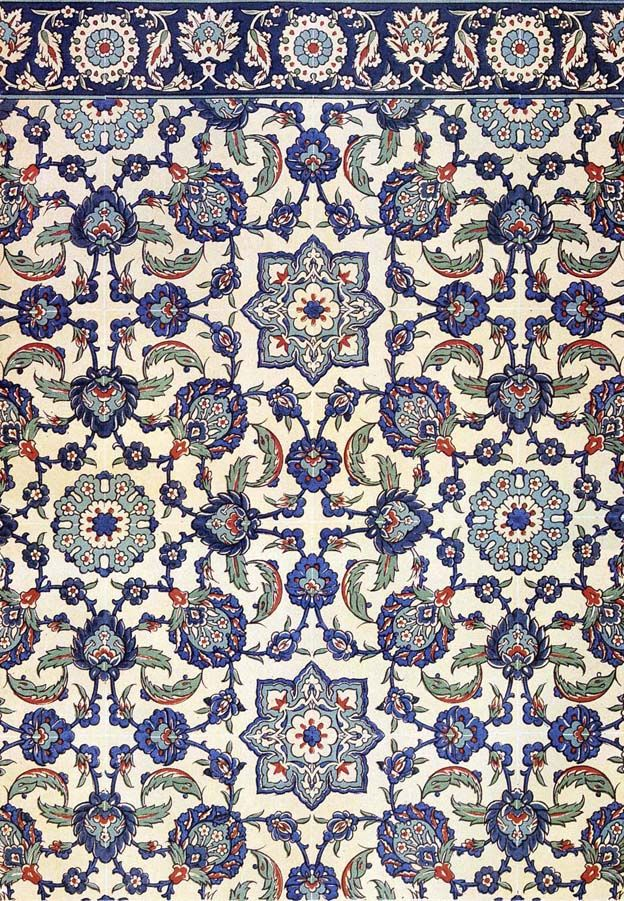 Wall tiling decoration of Qasr Radwan, Cairo, 17th century.