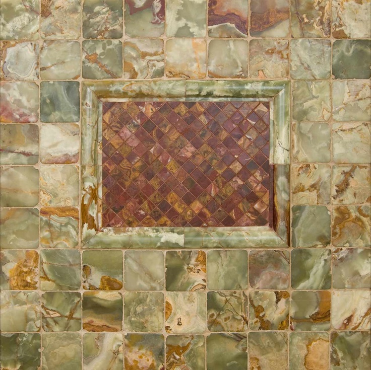 Green And Multi Red Onyx Wall Tile By Msi Stone Trend