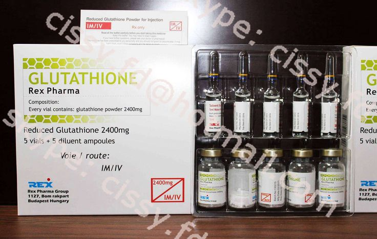 2400mg Glutathione for injection package: 5vials+5ampoules/tray/box shlef life: 36months