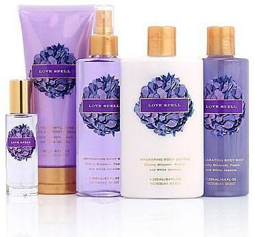 Victoria's Secret - Love Spell in any and every product.  This stuff smells amazing, I miss wearing it all the time.