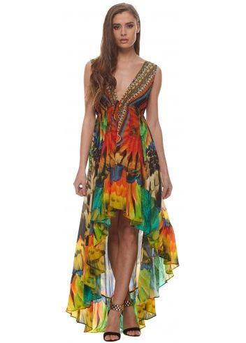 Image result for crepe printed beach wear