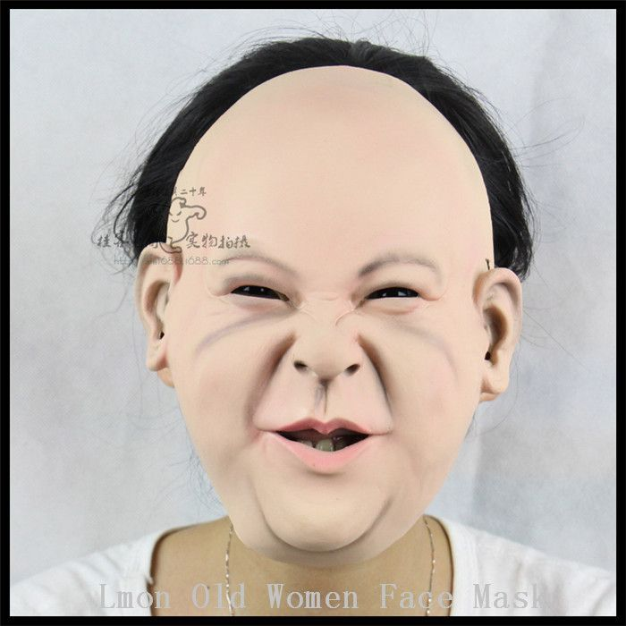 >> Click to Buy << New Old woman Latex Human mask halloween figure dance party funny masquerade masks clown realistic joker silicone female masks #Affiliate