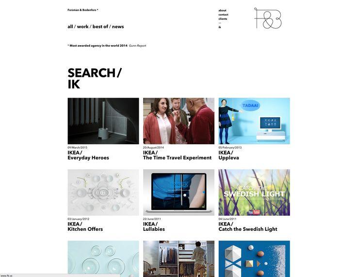 Nice search bar, really good dynamic sorting.