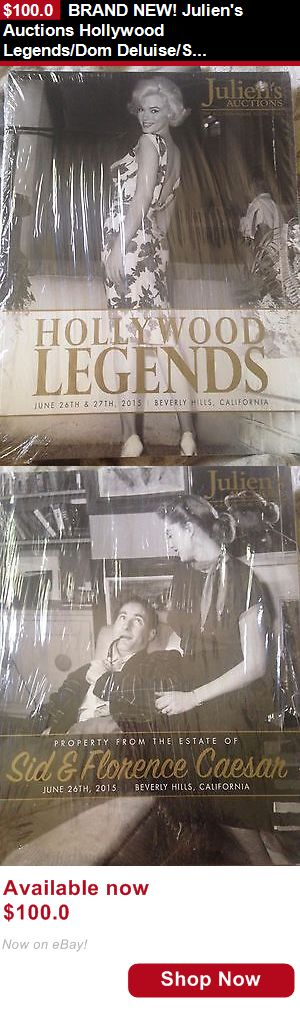 Auction: Brand New! Juliens Auctions Hollywood Legends/Dom Deluise/Sid Caesar Catalogue BUY IT NOW ONLY: $100.0