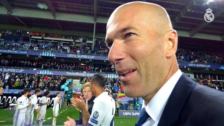 Sergio Ramos Zidane congratulates the players for UEFA Super Cup win