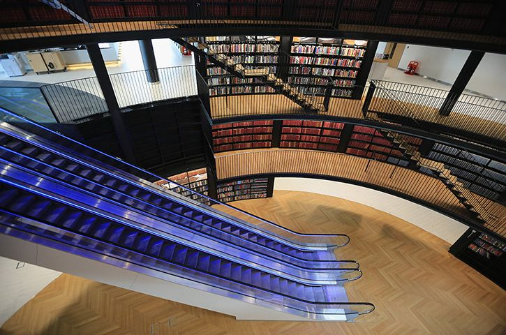 ***Birmingham Library: An interior view  Photograph: Christopher Furlong/Getty Images