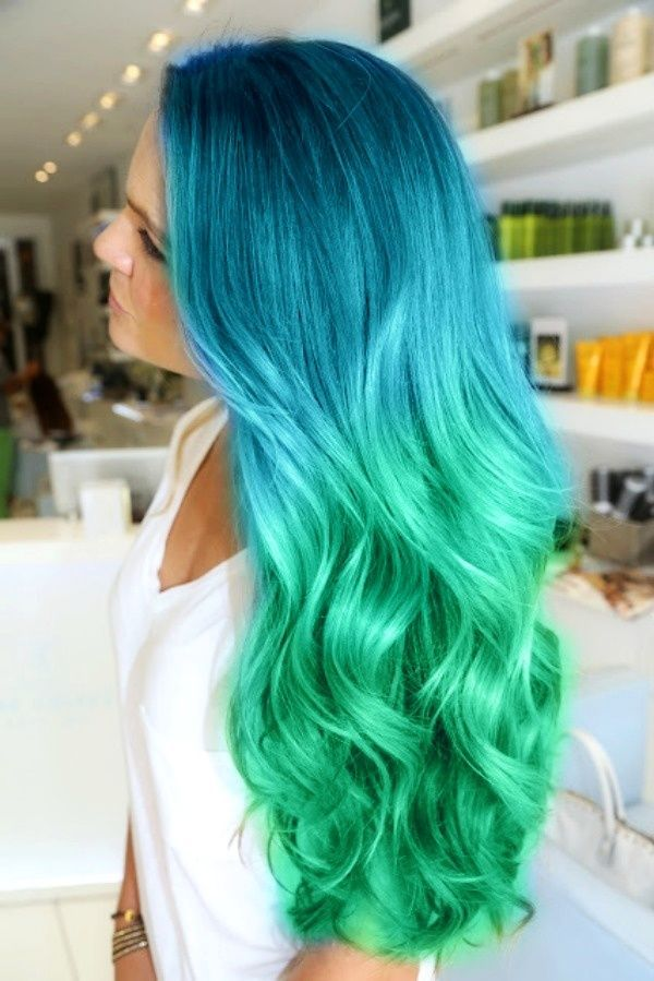If I were that crazy girl that dyed her hair crazy colors, my hair would look like this right now.