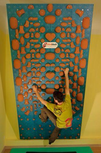 Climblock system wall