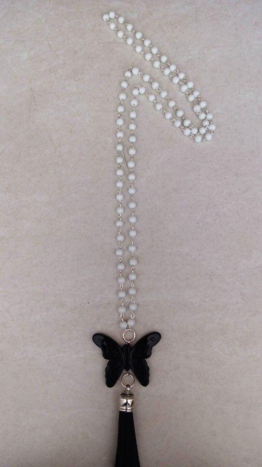 Handmade necklace with pearls designed by Elli lyraraki!!