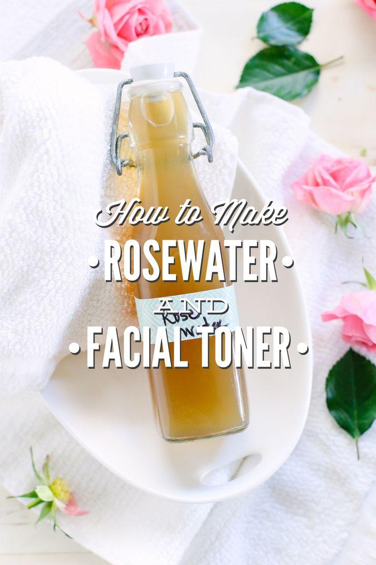 Como fazer água de rosas e toner facial água de rosas.  Este toner de pele caseira é tão fácil de fazer em casa!  Calmante e refrescante para a pele.